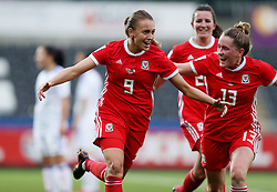 Wales Kayleigh Green celebrates scoring their first goal during the 2019 FIFA Women's World Cup qualifying, group 1 match at the Liberty Stadium, Swansea.