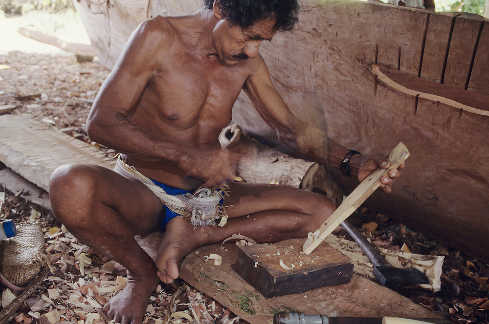 Bechyal village, Traditional canoe building, Yap, Wa`ab, Waqab, Federated States of Micronesia, islands in the Caroline Islands