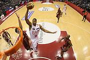 DESCRIZIONE : Milano Lega A 2012-13 EA7 Emporio Armani Milano Umana Venezia<br /> GIOCATORE : Richard Hendrix<br /> CATEGORIA : Tiro Special Schiacciata <br /> SQUADRA : EA7 Emporio Armani Milano<br /> EVENTO : Campionato Lega A 2012-2013<br /> GARA : EA7 Emporio Armani Milano Umana Venezia<br /> DATA : 11/11/2012<br /> SPORT : Pallacanestro <br /> AUTORE : Agenzia Ciamillo-Castoria/G.Cottini<br /> Galleria : Lega Basket A 2012-2013  <br /> Fotonotizia : Milano Lega A 2012-13 EA7 Emporio Armani Milano Umana Venezia<br /> Predefinita :