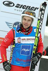 29.01.2011, Grasgehren Lifte, Grasgehren, GER, FIS Skicross World Cup, Grasgehren, im Bild Podium, 3. Platz, Armin NIEDERER (SUI) // Podium, 3rd place, Armin NIEDERER (SUI) during FIS Skicross World Cup in Grasgehren, Germany, EXPA Pictures © 2011, PhotoCredit: EXPA/ S. Kiesewetter