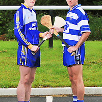 22 May 2008; Clare goalkeeper Philip Brennan with Waterford goalkeeper Clinton Hennessy at a photocall ahead of Waterford v Clare, GAA Hurling Munster Senior Championship, taking place on Sunday the 1st June. Horse and Jockey, Thurles, Co. Tipperary. Picture credit: Brendan Moran / SPORTSFILE *** NO REPRODUCTION FEE ***