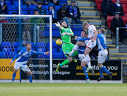 Ross County's Jay McEveley scoring their first goal. St Johnstone 2 v 4 Ross County. SPFL Ladbrokes Premiership game played 19/11/2016 at St Johnstone's home ground, McDiarmid Park.