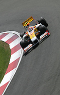 2009 Formula 1 Santander British Grand Prix at Silverstone in Northants, Great Britain. action from Friday practice on 19th June 2009. Nelson Piquet of Brazil drives his Renault race car...