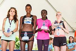 41st Falmouth Road Race: top women, Adrienne Herzog, Diane Nukuri-Johnson, Linet Masai, Gemma Steel