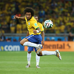 08.07.2014, Mineirao, Belo Horizonte, BRA, FIFA WM, Brasilien vs Deutschland, Halbfinale, im Bild Marcelo (BRA) // during Semi Final match between Brasil and Germany of the FIFA Worldcup Brazil 2014 at the Mineirao in Belo Horizonte, Brazil on 2014/07/08. EXPA Pictures © 2014, PhotoCredit: EXPA/ Eibner-Pressefoto/ Cezaro<br /> <br /> *****ATTENTION - OUT of GER*****