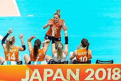 19-10-2018 JPN: Semi Final World Championship Volleyball Women day 20, Yokohama<br /> Serbia - Netherlands / Maret Balkestein-Grothues #6 of Netherlands