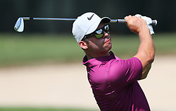September 21, 2017 - Atlanta, GA, USA - Paul Casey hits his fairway shot to the 1st green in the opening round of the Tour Championship on Thursday, Sept. 21, 2017, at Eastlake Golf Club in Atlanta. (Credit Image: © Curtis Compton/TNS via ZUMA Wire)