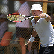Michel Leclercq, France, in action in the 65 Mens Singles during the 2009 ITF Super-Seniors World Team and Individual Championships at Perth, Western Australia, between 2-15th November, 2009.