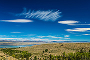 Lenticular Clouds in the Fall over Mono Lake, California