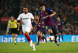 October 20, 2018 - Barcelona, Catalonia, Spain - Luis Suarez during the match between FC Barcelona and Sevilla CF, corresponding to the week 9 of the Liga Santander, played at the Camp Nou, on 20th October 2018, in Barcelona, Spain. (Credit Image: © Joan Valls/NurPhoto via ZUMA Press)