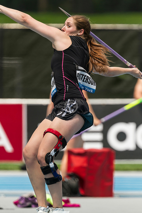 Kara Patterson, USA,, women's javelin, adidas Grand Prix Diamond League track and field meet