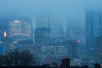 Downtown Toronto, Morning Fog