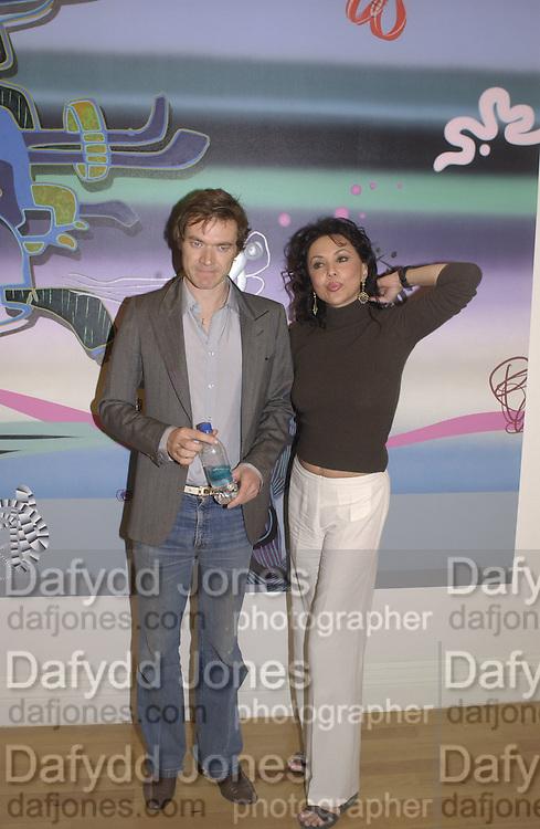 Harlan Miller and Marie Helvin. Becks Prize award evening. I.C.A. 7 May 2002. © Copyright Photograph by Dafydd Jones 66 Stockwell Park Rd. London SW9 0DA Tel 020 7733 0108 www.dafjones.com