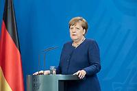 20 MAY 2020, BERLIN/GERMANY:<br /> Angela Merkel, CDU, Budneskanzlerin, gibt ein Pressestatement zur vorangegangenen Videokonferenz mit den mit den Vorsitzenden internationaler Wirtschafts- und <br /> Finanzorganisationen, Bundeskanzleramt<br /> IMAGE: 20200520-01-008<br /> KEYWORDS: Pressekonferenz