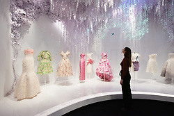 © Licensed to London News Pictures. 30/01/2019. London, UK. Dresses are showing as part of the V&A Christian Dior: Designer of Dreams Exhibition. From 1947 to the present day, Christian Dior: Designer of Dreams traces the history and impact of one of the 20th century's most influential couturiers, and the six artistic directors who have succeeded him, to explore the enduring influence of the fashion house. Photo credit: Ray Tang/LNP