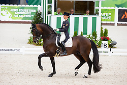 Victoria Max Theurer, (AUT), Augustin Old - Grand Prix Team Competition Dressage - Alltech FEI World Equestrian Games™ 2014 - Normandy, France.<br /> © Hippo Foto Team - Leanjo de Koster<br /> 25/06/14