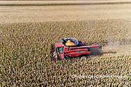 63801-12304 Harvesting corn in fall-aerial  Marion Co. IL