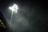 Rain. Stockport County 3-1 Guiseley AFC. Buildbase FA Trophy. 19.12.20