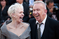 Tonie Marshall and Jean Paul Gaultier at the gala screening for the film Mal De Pierres (From the Land of the Moon) at the 69th Cannes Film Festival, Sunday 15th May 2016, Cannes, France. Photography: Doreen Kennedy
