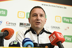 November 2, 2017 - Mechelen, BELGIUM - Mechelen's new head coach Aleksandar Jankovic pictured during a press conference of Belgian first division soccer team KV Mechelen, in Mechelen, Thursday 02 November 2017, to present their new head coach. Last week the club dismissed coach Ferrera and appointed Serbian Jankovic for a second stint, he already coached the club from May 2014 to September 2016...BELGA PHOTO JASPER JACOBS (Credit Image: © Jasper Jacobs/Belga via ZUMA Press)