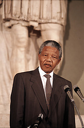 South Africa, Johannesburg - December 096, 2013.Former South African President Nelson Mandela has died in Johannesburg at the age of 95..Here pictured in Rome undated (Credit Image: © ROPI/ZUMAPRESS.com)