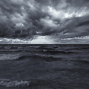 """Lake Michigan in Motion"" mono<br />