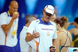 06-08-2008 ZWEMMEN: TRAINING ZWEMPLOEG: BEIJING<br /> Training in het prachtige National Aquatics Center / Jacco Verhaeren<br /> ©2008-WWW.FOTOHOOGENDOORN.NL