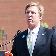 George Wolf of the Port Authority of Kansas City at the KC Streetcar groundbreaking ceremony, May 22, 2014.