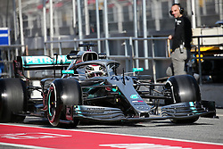 February 18, 2019 - Barcelona, Spain - the Mercedes of Lewis Hamilton during the Formula 1 test in Barcelona, on 18th February 2019, in Barcelona, Spain. (Credit Image: © Joan Valls/NurPhoto via ZUMA Press)