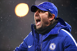 Chelsea's manager Antonio Conte during the Premier League match at the John Smith's Stadium, Huddersfield.