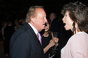 ANDREW PARKER BOWLES; FELICITY WALEY-COHEN, The Cartier Chelsea Flower show dinner. Hurlingham club, London. 20 May 2013.