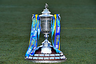 The Scottish Cup during the Heart of Midlothian press conference, media and training session, ahead of the William Hill Scottish Cup Final, at the Oriam Sports Performance Centre, Edinburgh, Scotland on 15 December 2020.