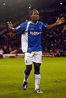 Photo: Jed Wee.<br /> Sheffield United v Birmingham City. Carling Cup. 24/10/2006.<br /> <br /> Birmingham's Cameron Jerome celebrates.