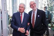 Italian designer Giorgetto Giugiaro and Architect Renzo Piano during the opening of Intesa Sanpaolo Bank skyscraper designed by architect Renzo Piano in Turin, Italy.<br /> <br /> © Giorgio Perottino