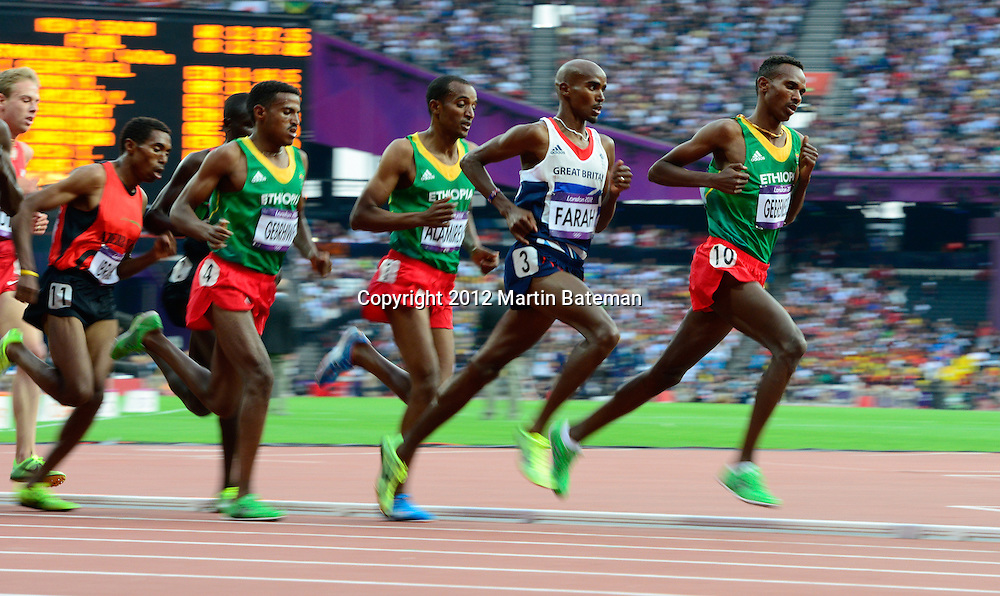 Olympic action 11 August 2012. Final night of Athletics at Olympic Stadium
