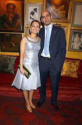 STRATIS & MARIA HATZISTEFANIS at a dinner hosted by Stratis & Maria Hatzistefanis at Annabel's, Berkeley Square, London on 24th March 2006 following the christening of their son earlier in the day.<br /><br />NON EXCLUSIVE - WORLD RIGHTS