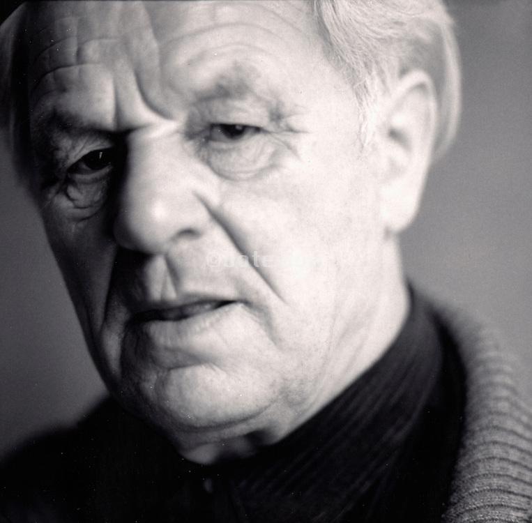close up of an elderly man.