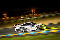 Qualifying Copper MacNeil (USA) / Leh Keen (USA) / Marc Miller (USA) driving the LMGTE Am Proton Competition  Porsche 911 RSR 24hr Le Mans 15th June 2016