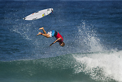 December 16, 2017 - Banzai Pipeline, HI, USA - BANZAI PIPELINE, HI - DECEMBER 16, 2017 - Mick Fanning of Australia falls on an incomplete aerial during his heat in the Billabong Pipe Masters Saturday. (Credit Image: © Erich Schlegel via ZUMA Wire)