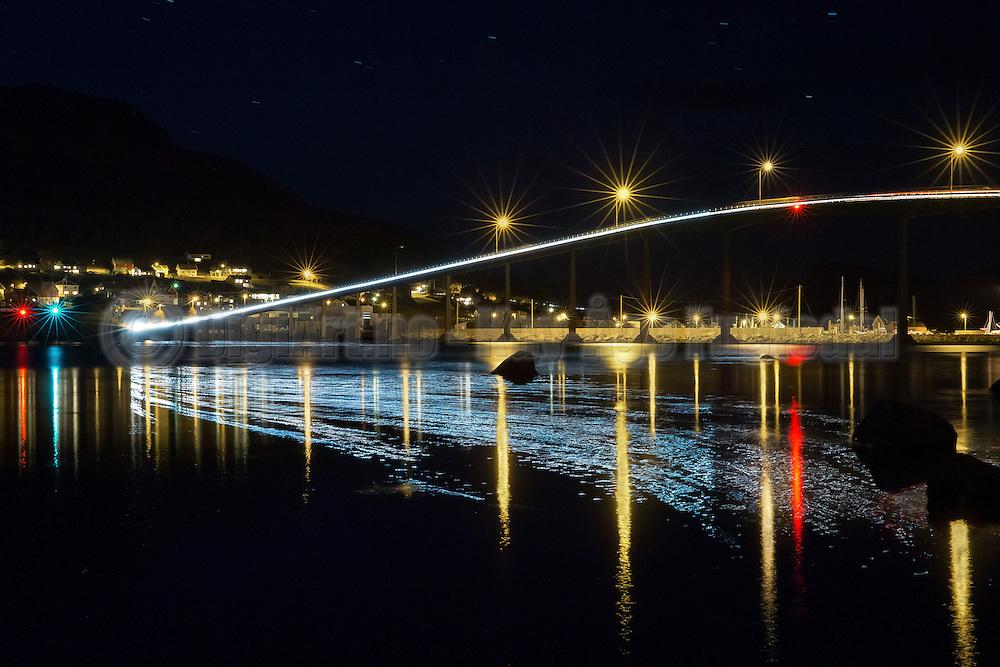 Kvalsund bridge by night   Kvalsundbrua i kveldslys