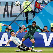 Nigeria forwarder Ahmed Musa (R) and Argentina midfielder Enzo Perez (L) during the 2018 FIFA World Cup Russia, Group D football match between Nigeria and Argentina on June 26, 2018 at Saint Petersburg Stadium in Saint Petersburg, Russia - Photo Stanley Gontha / Pro Shots / ProSportsImages / DPPI