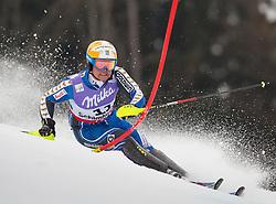17.02.2013, Planai, Schladming, AUT, FIS Weltmeisterschaften Ski Alpin, Slalom, Herren, 1. Durchgang, im Bild Mattias Hargin (SWE) // Mattias Hargin of Sweden in action during 1st run of the mensSlalom at the FIS Ski World Championships 2013 at the Planai Course, Schladming, Austria on 2013/02/17. EXPA Pictures © 2013, PhotoCredit: EXPA/ Johann Groder