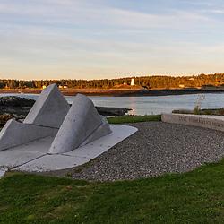The Lost Fishermen's Memorial in Lubec, Maine.