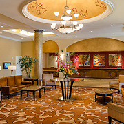 Lobby of the Double Tree hotel in Anaheim, CA.