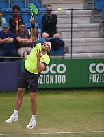 Daniel Brands on Day Six of the Fuzion 100 Surbiton Trophy at the Surbiton Racket & Fitness Club, Surrey, United Kingdom.<br /> Picture by Daniel Hambury/Focus Images Ltd 07813022858<br /> 07/06/2018