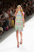 Lace and pieced dress. By Custo Barcelona at the Spring 2013 Fashion Week show in New York.