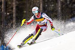 21.02.2021, Cortina, ITA, FIS Weltmeisterschaften Ski Alpin, Slalom, Herren, 2. Lauf, im Bild Silbermedaillen Gewinner im Slalom der Herren 2021 Adrian Pertl (AUT) // Silver medal winner in men's slalom 2021 Adrian Pertl of Austria in action during his 2nd run of men slalom of FIS Alpine Ski World Championships 2021 in Cortina, Italy on 2021/02/21. EXPA Pictures © 2021, PhotoCredit: EXPA/ Erich Spiess