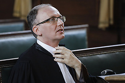 June 20, 2017 - Brussels, BELGIUM - Lawyer Johan Verstraeten pictured during the case of Greenpeace vs the Belgian State at the Brussels appeal court, Tuesday 20 June 2017, in Brussels. Greenpeace asks for the closure of the nuclear reactors of Tihange 1, Doel 2 and Doel 1. BELGA PHOTO THIERRY ROGE (Credit Image: © Thierry Roge/Belga via ZUMA Press)
