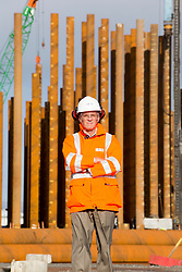 John McNally, Ineos MD at the constructiuon of the new ethane storage tank at Grangemouth refinery. The Sun had access to the plant for a 'year on' tale (last year the plant closed following strike action - this is an update piece).