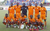Fotball<br /> Foto: Dppi/Digitalsport<br /> NORWAY ONLY<br /> <br /> FOOTBALL - AFRICAN CUP OF NATIONS 2006  - 1/2 FINAL - 060207 - NIGERIA v IVORY COAST / ELFENBENSKYSTEN - TEAM IVORY COAST ( BACK ROW LEFT TO RIGHT : ROMARIC / YAYA TOURE / JEA JACQUES TIZIE / ABDOULAYE MEITE / BONAVENTURE KALOU / KOLO TOURE . FRONT ROW : DIDIER ZOKORA / GILLES YAPI YAPO / DIDIER DROGBA / ARTHUR BOKA / EMMANUEL EBOUE )